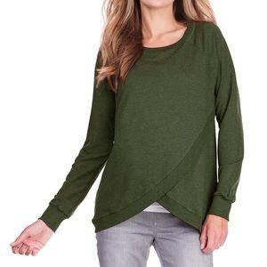 +Seraphine Sybil crossover tulip maternity sweater